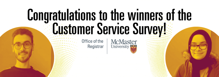 Congratulations to the winners of the Customer Service Survey!