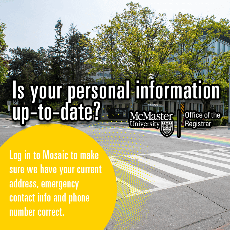 Graphic: Is your personal information up-to-date?