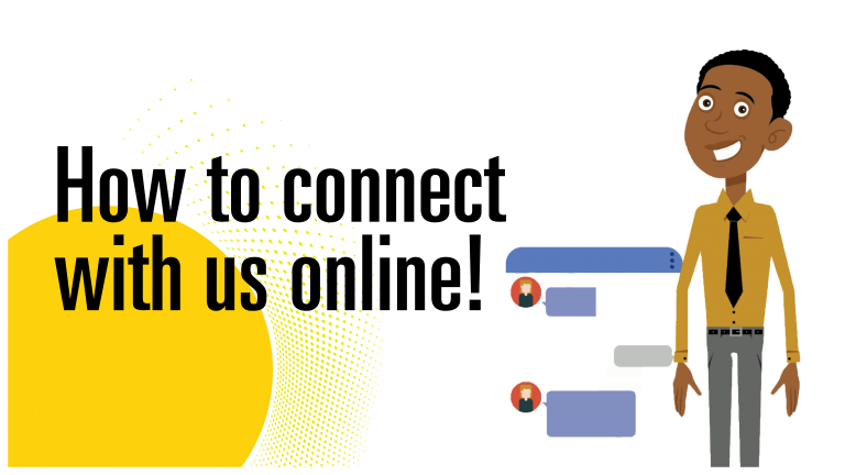 How to connect with us online!